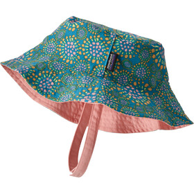 Patagonia Sun Bucket Hat Kinderen, tencel bloom/joya blue